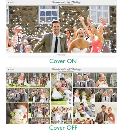 Turn your gallery cover photo on or off with the click of a button