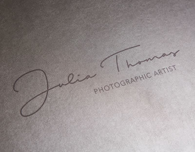 Photographer's Logo Branded on Folio Box