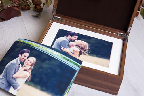 Premium Wood 8x10 XL Folio Box
