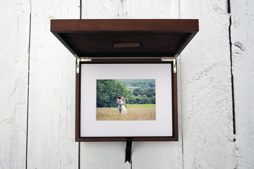 Premium Wood 8x10 XL Folio Box with USB