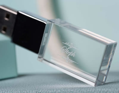 Engraved Crystal USB