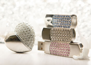 Jewelled style USB Flash Drives