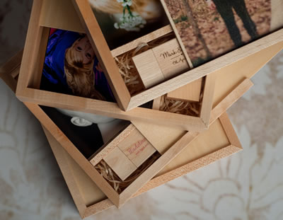 Maple Print and USB thumb drive presentation boxes