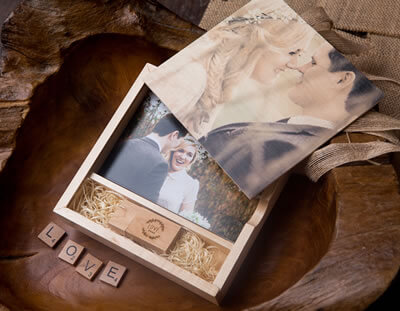 Wooden Slide Top Print and USB Box